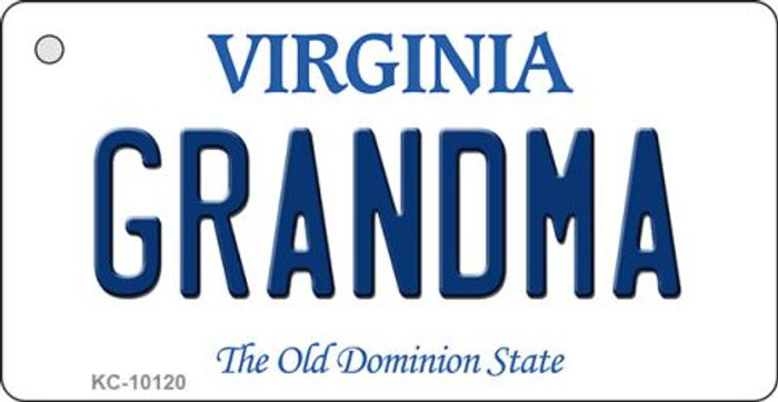 Grandma Virginia State License Plate Key Chain KC-10120