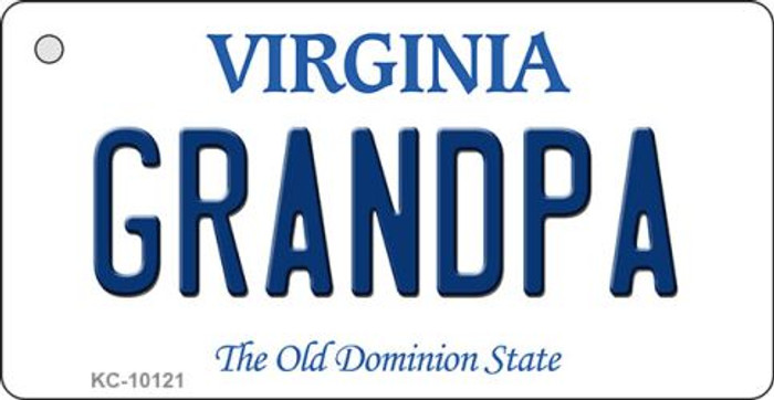 Grandpa Virginia State License Plate Key Chain KC-10121