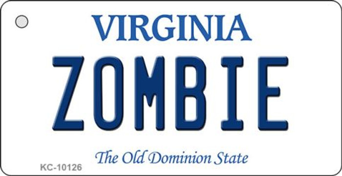 Zombie Virginia State License Plate Key Chain KC-10126