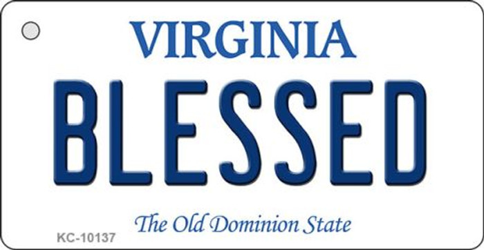 Blessed Virginia State License Plate Key Chain KC-10137