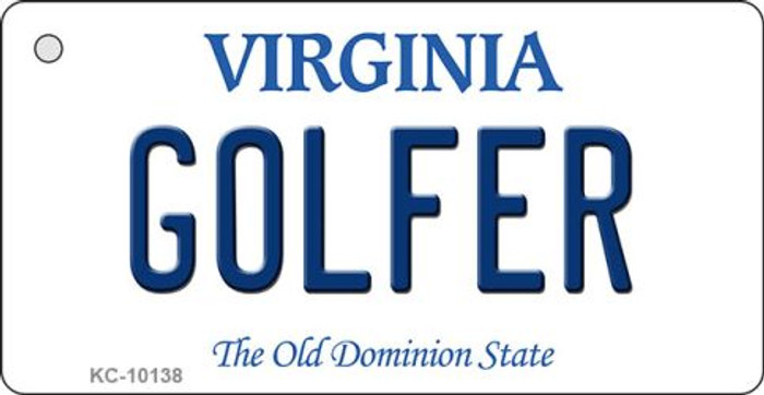 Golfer Virginia State License Plate Key Chain KC-10138