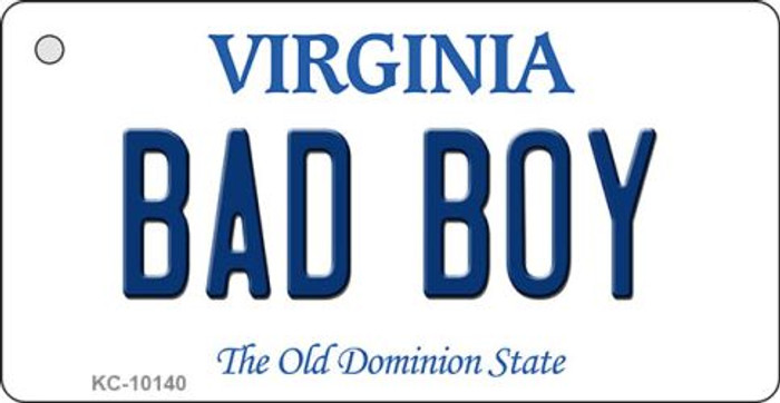 Bad Boy Virginia State License Plate Key Chain KC-10140