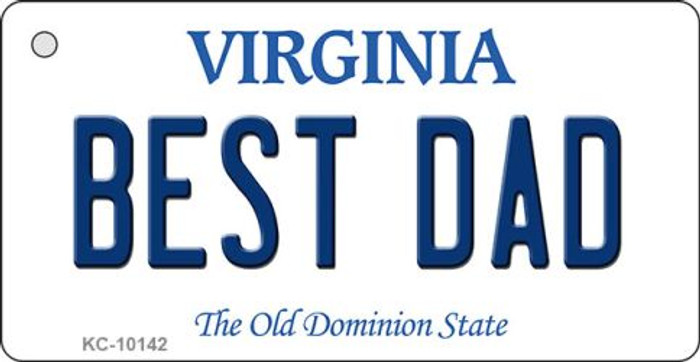 Best Dad Virginia State License Plate Key Chain KC-10142