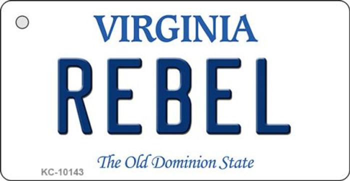 Rebel Virginia State License Plate Key Chain KC-10143