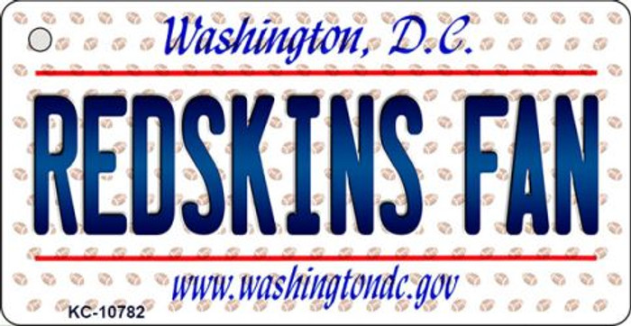 Redskins Fan Washington DC State License Plate Key Chain KC-10782