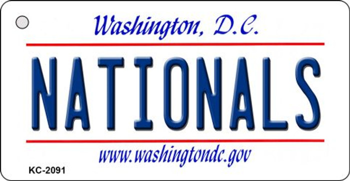Nationals Washington DC State License Plate Key Chain KC-2091
