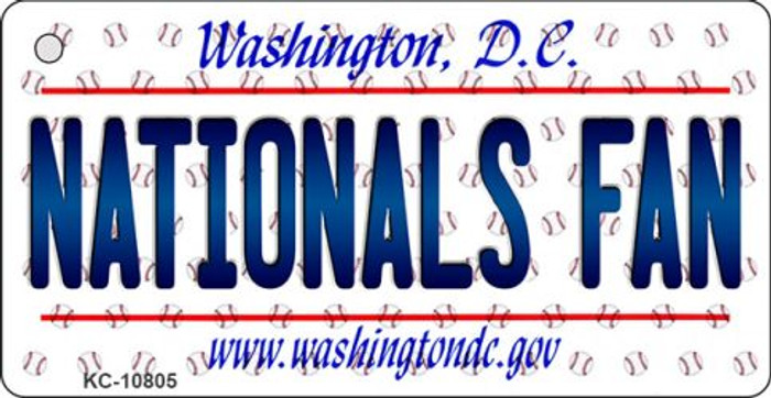 Nationals Fan Washington DC State License Plate Key Chain KC-10805