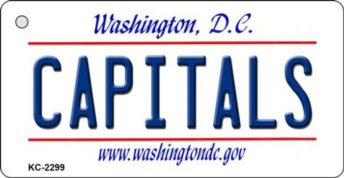Capitals Washington DC State License Plate Key Chain KC-2299
