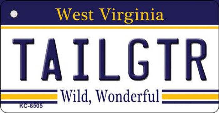 Tailgtr West Virginia License Plate Key Chain KC-6505