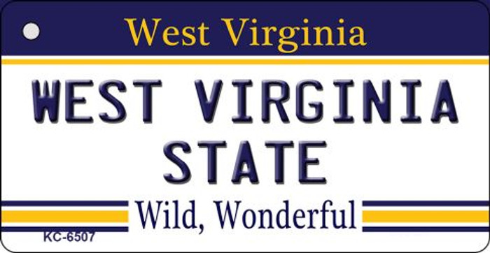 West Virginia University License Plate Key Chain KC-6507