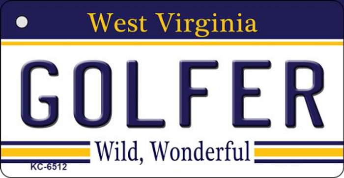 Golfer West Virginia License Plate Key Chain KC-6512