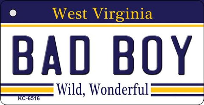 Bad Boy West Virginia License Plate Key Chain KC-6516