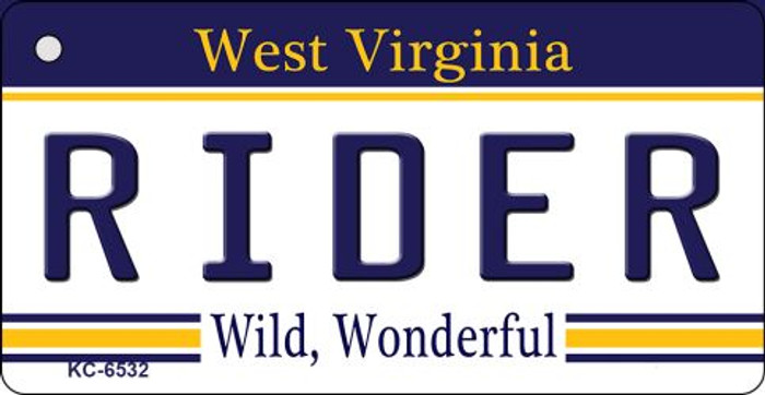 Rider West Virginia License Plate Key Chain KC-6532