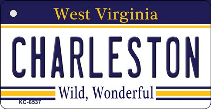 Charleston West Virginia License Plate Key Chain KC-6537