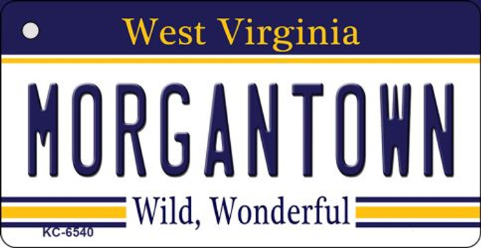 Morgantown West Virginia License Plate Key Chain KC-6540