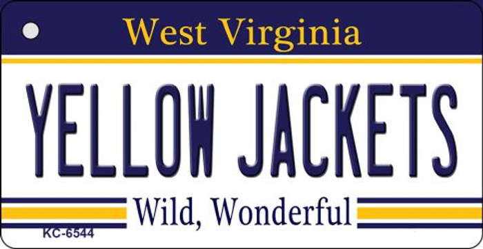 Yellow Jackets West Virginia License Plate Key Chain KC-6544