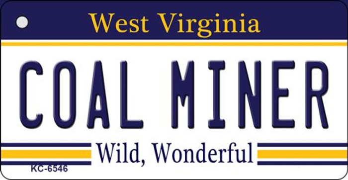 Coal Miner West Virginia License Plate Key Chain KC-6546