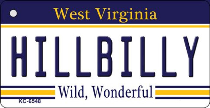 Hillbilly West Virginia License Plate Key Chain KC-6548