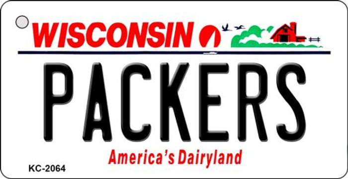 Packers Wisconsin State License Plate Key Chain KC-2064
