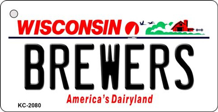 Brewers Wisconsin State License Plate Key Chain KC-2080