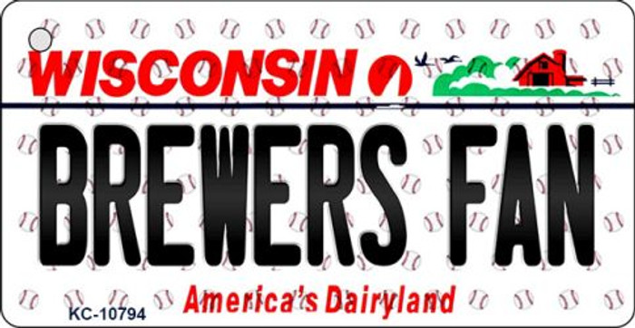 Brewers Fan Wisconsin State License Plate Key Chain KC-10794