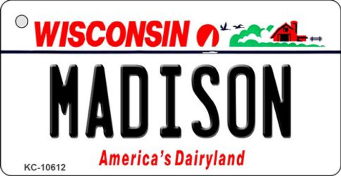 Madison Wisconsin License Plate Novelty Key Chain KC-10612