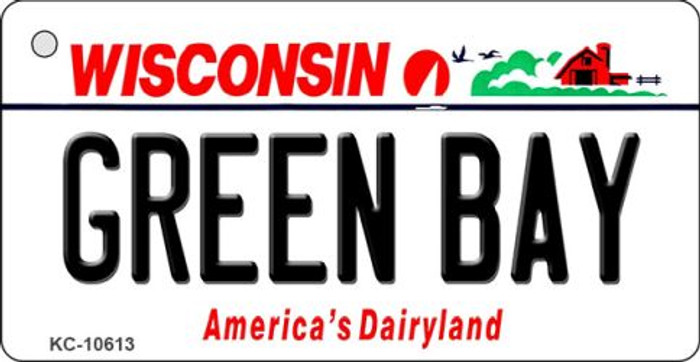 Green Bay Wisconsin License Plate Novelty Key Chain KC-10613