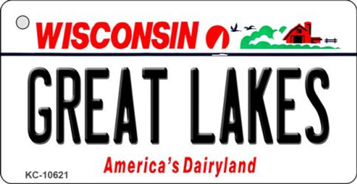Great Lakes Wisconsin License Plate Novelty Key Chain KC-10621