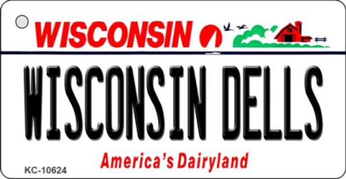 Wisconsin Dells License Plate Novelty Key Chain KC-10624