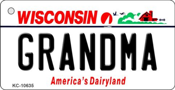 Grandma Wisconsin License Plate Novelty Key Chain KC-10635