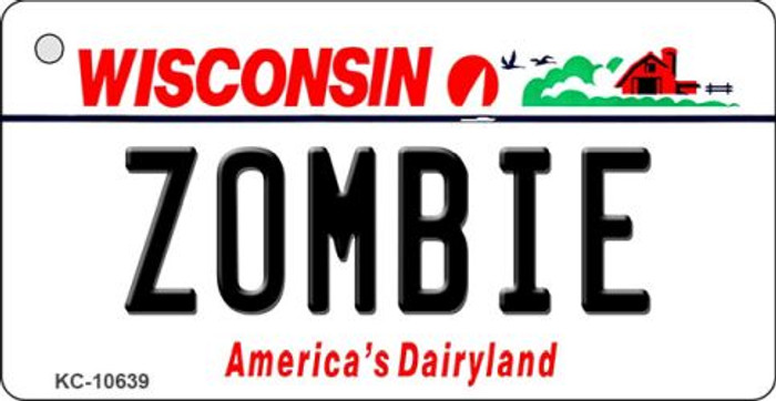 Zombie Wisconsin License Plate Novelty Key Chain KC-10639