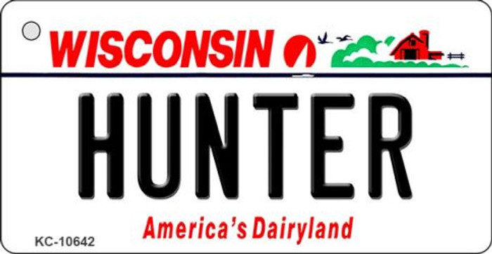 Hunter Wisconsin License Plate Novelty Key Chain KC-10642
