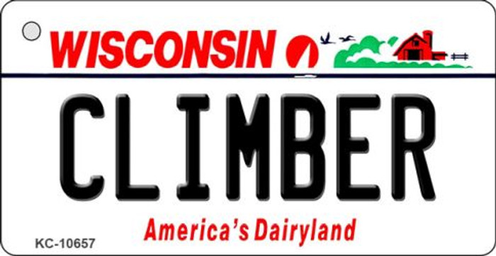 Climber Wisconsin License Plate Novelty Key Chain KC-10657