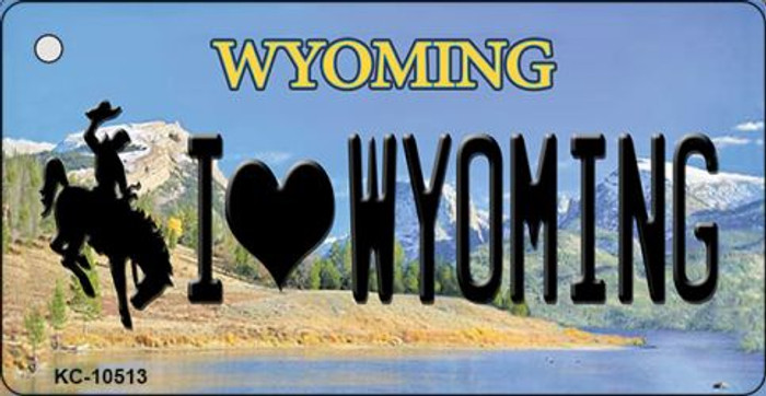 I Love Wyoming State License Plate Key Chain KC-10513