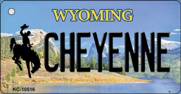 Cheyenne Wyoming State License Plate Key Chain KC-10516