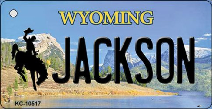 Jackson Wyoming State License Plate Key Chain KC-10517