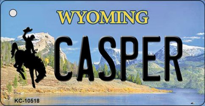 Casper Wyoming State License Plate Key Chain KC-10518