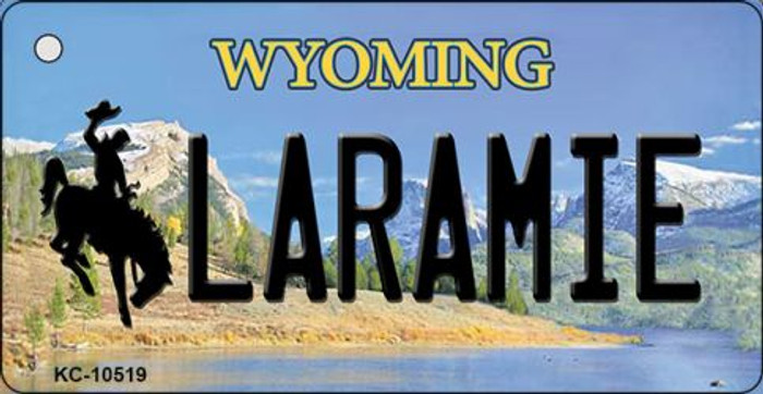 Laramie Wyoming State License Plate Key Chain KC-10519