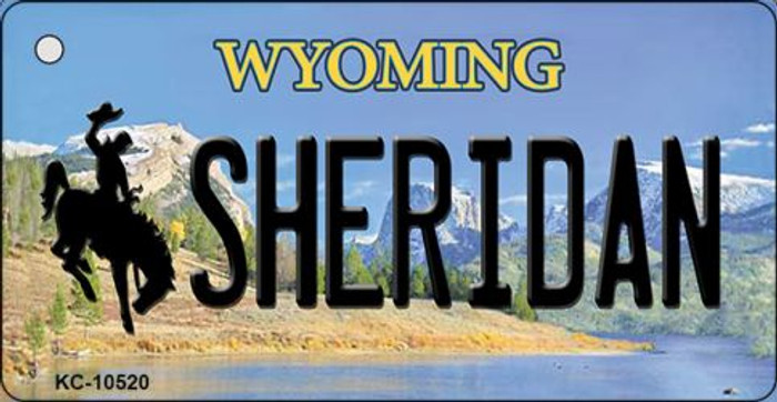 Sheridan Wyoming State License Plate Key Chain KC-10520