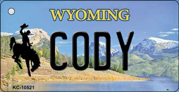 Cody Wyoming State License Plate Key Chain KC-10521