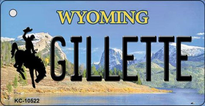 Gilletle Wyoming State License Plate Key Chain KC-10522