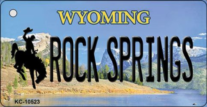 Rock Spring Wyoming State License Plate Key Chain KC-10523