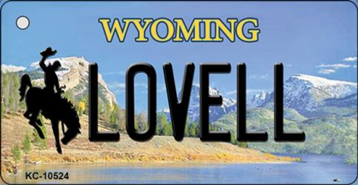 Lovell Wyoming State License Plate Key Chain KC-10524