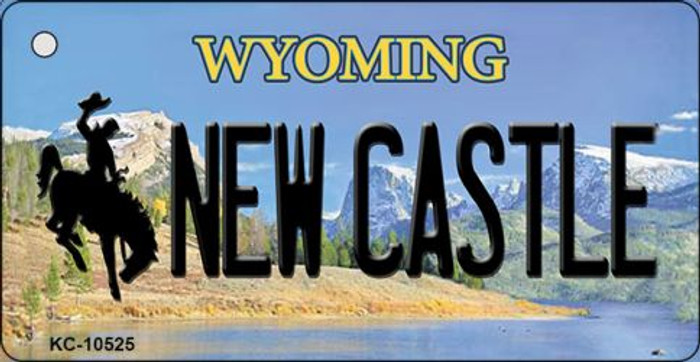 New Castle Wyoming State License Plate Key Chain KC-10525