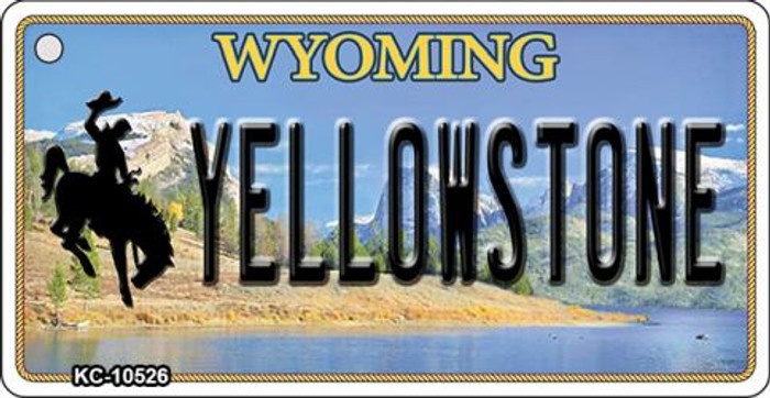 Yellowstone Wyoming State License Plate Key Chain KC-10526