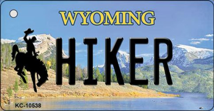 Hiker Wyoming State License Plate Key Chain KC-10538