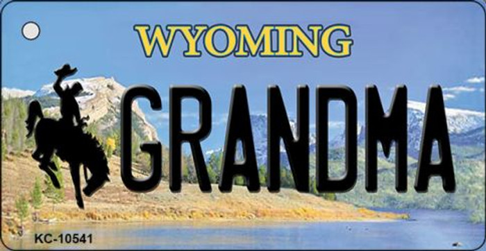 Grandma Wyoming State License Plate Key Chain KC-10541