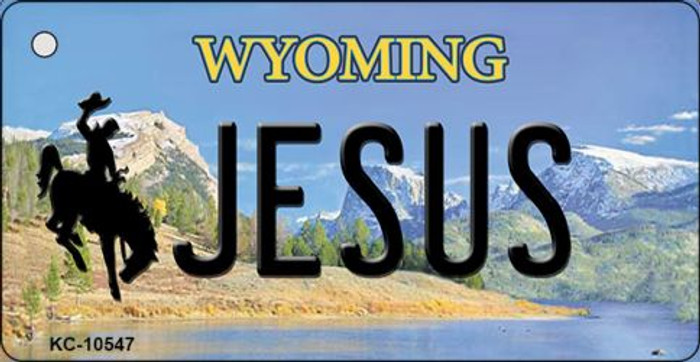 Jesus Wyoming State License Plate Key Chain KC-10547