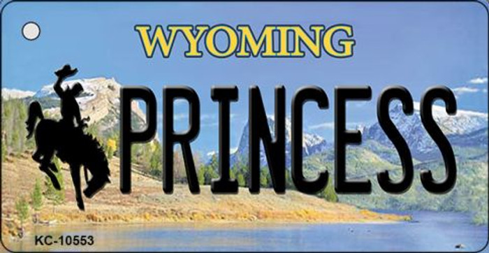 Princess Wyoming State License Plate Key Chain KC-10553