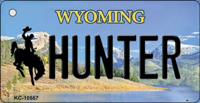 Hunter Wyoming State License Plate Key Chain KC-10557